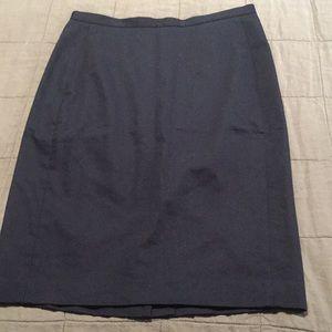 New Ann Taylor Navy pencil skirt 10 cotton